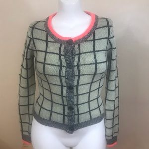 S Cardi Grey/Green by Numph of Anthropologie  GUC